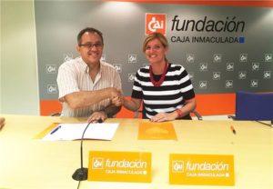 Fundación Caja Inmaculada y Cadis Huesca renuevan su convenio de colaboración.